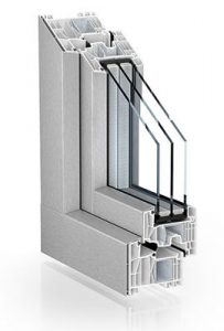 Window's profile Customfenestration 88 centre seal AluClip brushed stainless steel