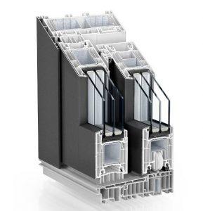 The profile of Alu-Clad PVC Lift Slide Door