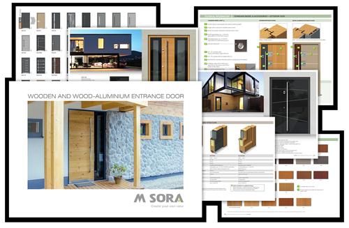 m-sora doors brochure graphic
